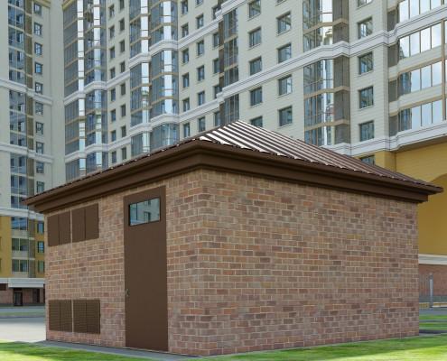 3д модель тепловой подстанции жилого комплекса