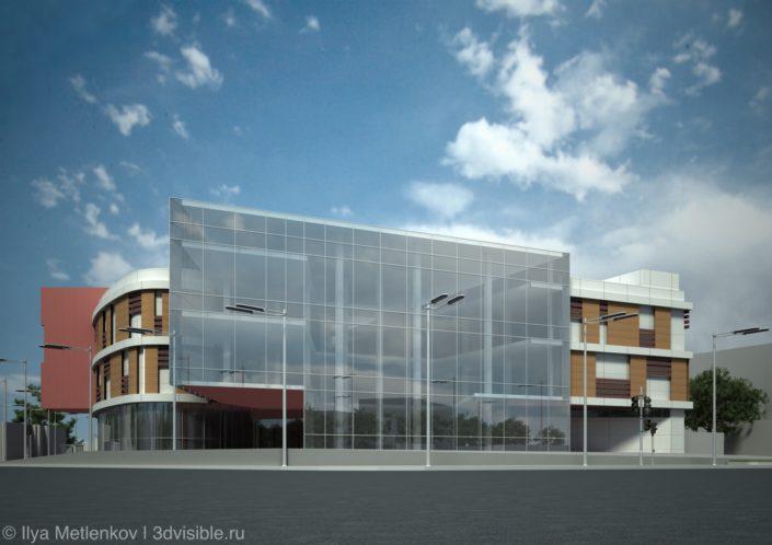 3D визуализация здания в городе Псков