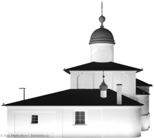 3D визуализация Церкви Климента папы Римского города Пскова