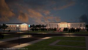 Площадь Ленина г.Пскова