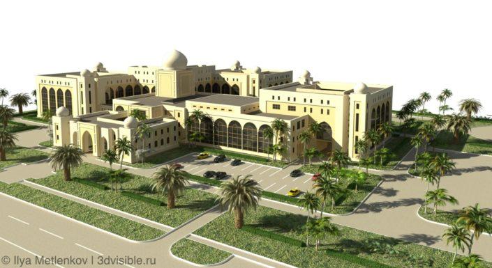 Ирак- зD визуализация зданий. Фасады классические