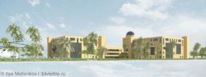 Ирак- зD визуализация зданий. Фасады современные